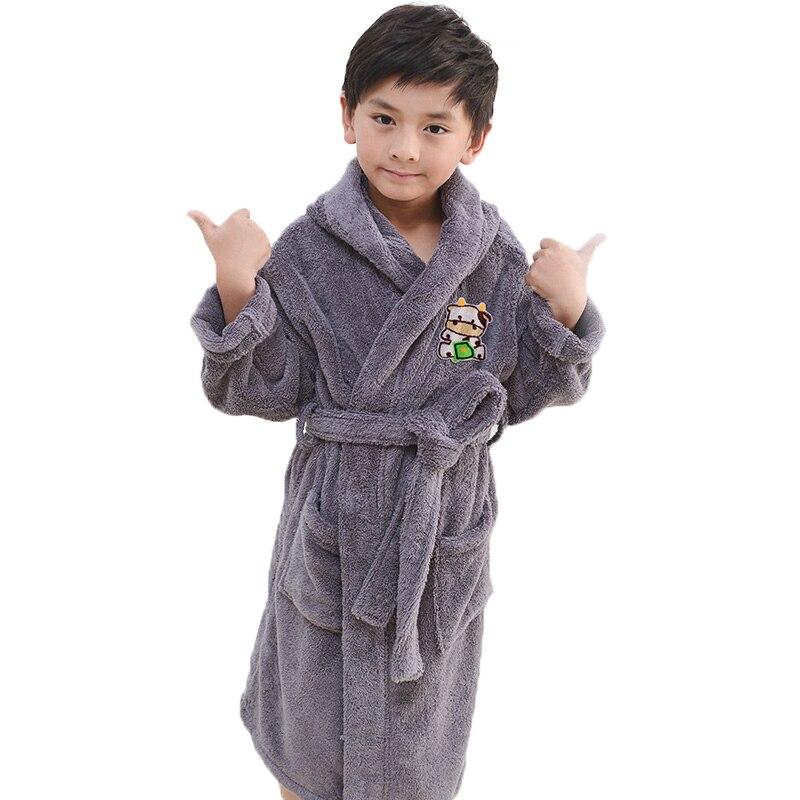 Robes Impartial Winter Warm Bathrobe Pijamas Kids Cartoon Towel Fleece Baby Boys Girls Robe Children Clothing Bathrobe Nightgown Christmas Gifts