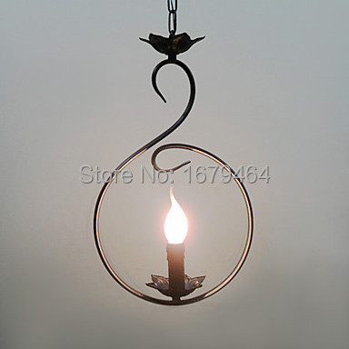 LED Artistic Pendant Light with 1 Light in Candle Bulb Free shipping fashion stainless steel bracelet
