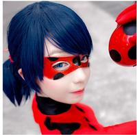 Miraculous Ladybug Girl Wig Cosplay Hair Style Accessory