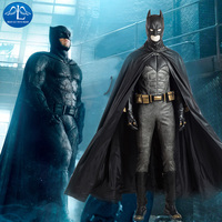 Justice League Batman Cosplay Costume Superhero Halloween Costumes For Adult Custom Made Cosplay Batman Costume Leather Suit