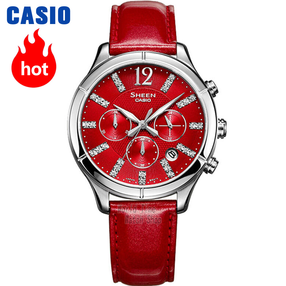 Casio watch Fashion Business Casual Poems Quartz Lady watches SHE-5020L-4A SHE-5020L-7A SHE-5026GL-7A casio she 5020l 7a