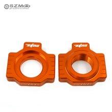 0552c96224d Regulador de ajuste de cadena Swingarm Slider para KTM 790 duke 790 duke  2018 accesorios de motocicleta CNC naranja con logotipo