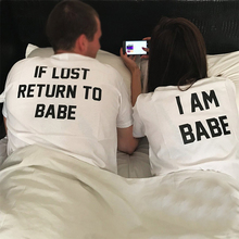 2019 Women Tops Cute I Am Babe Printed Couple Clothes White T Shirts Tshirt Vintage Plus Size Valentines Day