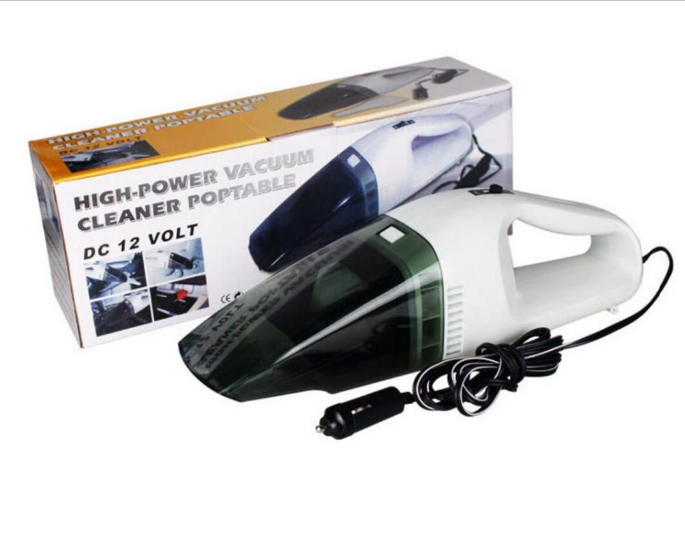 Portable Car Vacuum Cleaner 12V 60W Handheld Wet Dry 2.5 Meters Connector Cable Light Car Electronics Accessories
