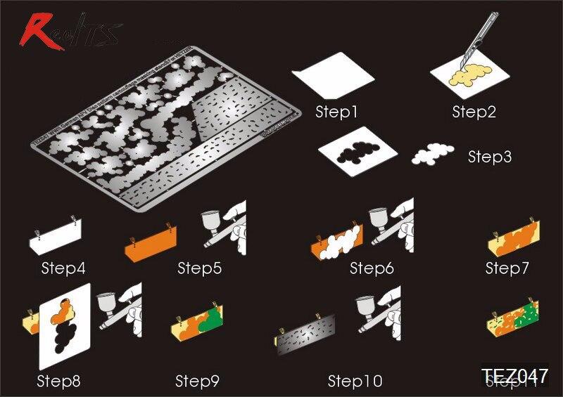 Ausdrucksvoll Realts Voyager Tez047 1/35 Wwii Deutsche Afv Disc Muster Camouflage Masking Schablone 3 (für Hetzer) (gp)