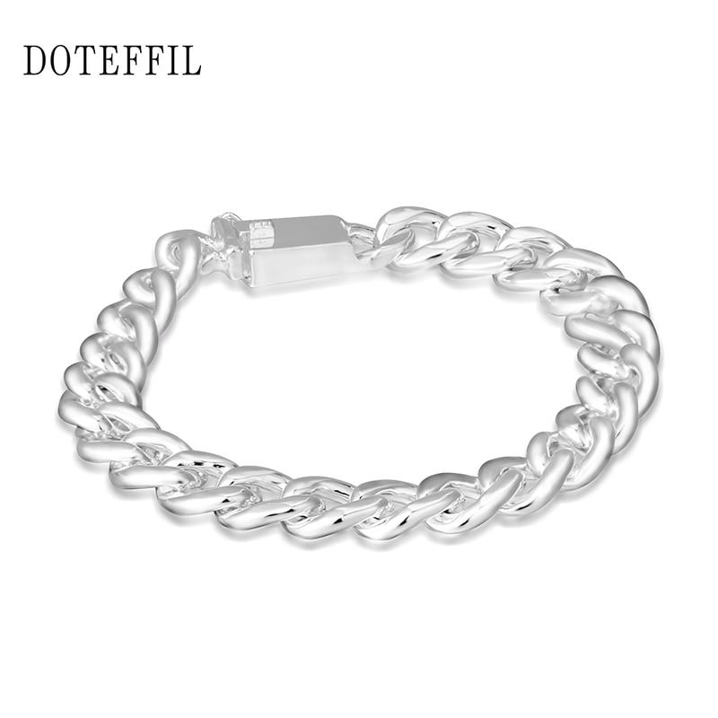 10 мм браслет 925 сріблястий колір - Модні прикраси - фото 6