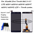 For Alcatel One Touch Idol 3 4.7 LTE 6039 6039A 6039K 6039Y 6039J 6039S LCD display + Touch screen digitizer assembly + Tools
