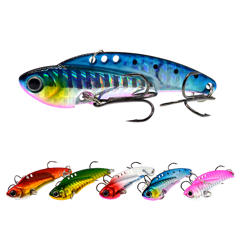 6cm/20g All Depth Sinking Jig Head Fishing Spoon Lure Metal Vibes Blade Lures-in Fishing Lures from Sports & Entertainment