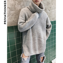 Privathinker Oversized Turtleneck Sweater Women Men 2018 Casual Winter Warm Sweater Pullover Male Autumn Knitted Male Sweaters