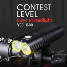 Gaciron V9D-1600 Bike Front Light Waterdicht 1600 Lumen Oplaadbare 5000 mAh Power Bank Zaklamp fiets accessoires