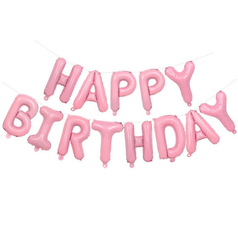 1 zestaw jednorożec Party balon foliowy dla dzieci powietrza jednorożec balony zestaw różowy balon w kształcie litery formularz e-maila znajdą dekoracje na przyjęcie urodzinowe Baby Shower Favor