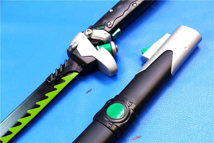 Overwatch OW Genji giochi Cosplay acciaio lama del coltello Spada arma katana Wakizashi Cosplay Props spedizione gratuita