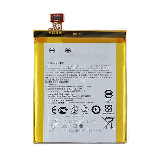 C11P1324 Replacement 2050mAh  Li-ion Battery For ASUS ZenFone 5 A500G Z5 T00J Mobile Phone Battery High Capacity