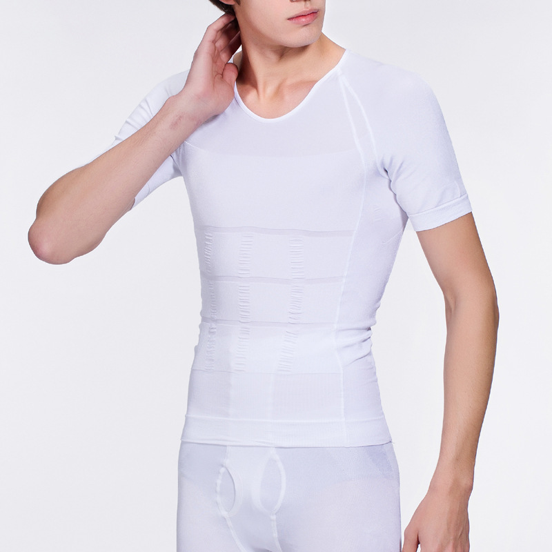 White High Quality Neoprene Elastic Mens Body Back Slimming Vest Men Tummy Slimming Corset Fat Burning Weight Loss Corset Belt
