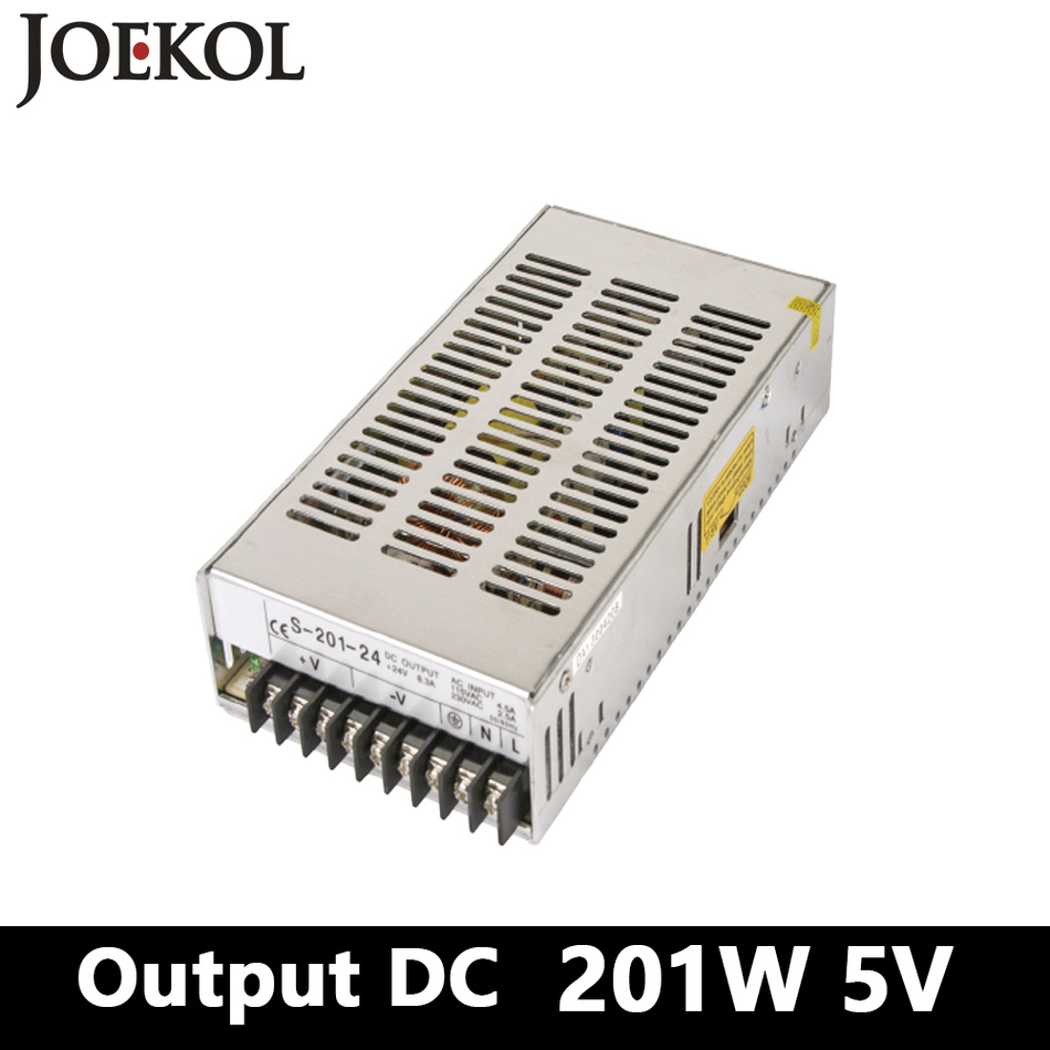 switching power supply 201W 5v 40A,Single Output ac-dc power supply for Led Strip,AC110V/220V Transformer to DC 5V,led driver 145w 24v 6a single output switching power supply for led strip light ac to dc smps