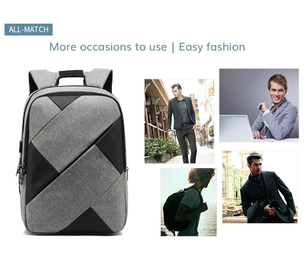 Topdudes.com - Patchwork 15.6 Inch laptop USB Charging School/Travel Backpack