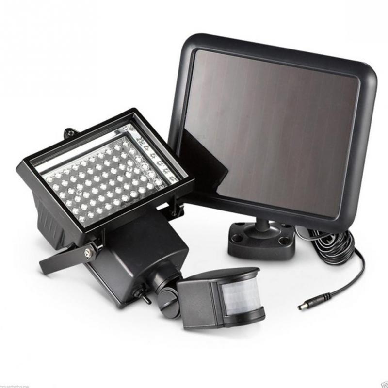 цена на Solar Panel LED Flood Security Garden Light PIR Motion Sensor 60 LEDs Path Wall Lamps Outdoor Emergency Lamp