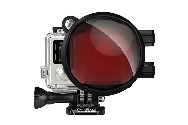 Red Color Correction Filter + 16X Close Up Macro Lens for Gopro Go Pro Hero 4 3 3+ Housing Case Underwater Scuba Lens Filter Kit (14)