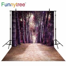 Funnytree backdrops for photography studio forest path tree autumn nature landscape professional background photobooth photocall