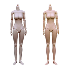 High Quality 1:6 Rubber Skin Layer Female Nude Body Medium Breast for 1/6 12′ Action Figure CG CY Head Doll Classic Toys Collect