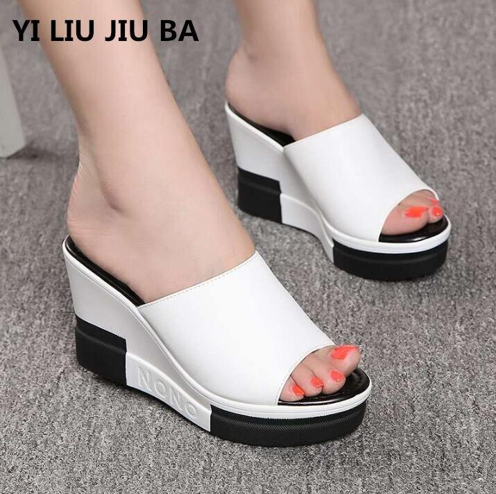 0d6e1c71 Модные Вьетнамки; женская обувь; шлепанцы; Летняя обувь на платформе;  босоножки на танкетке