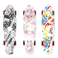 4 Wheels Skate Board Fish Skateboard Scooter Cruiser Brush Street Board For Kids Adults