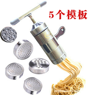 Italian pasta machine stainless steel noodle machine by hand 5 moulds creative...