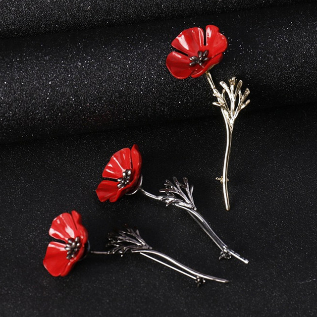 Clearance sale red poppy flower brooch vintage collar pins for men clearance sale red poppy flower brooch vintage collar pins for men woman jewelry brooches pins boutonniere mightylinksfo