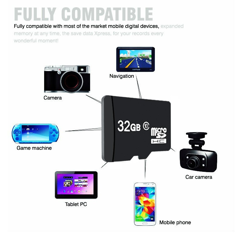 a 2017 top sell micro sd card memory card microsd mini sd card 4 8 16 32 64 for storing data. Black Bedroom Furniture Sets. Home Design Ideas