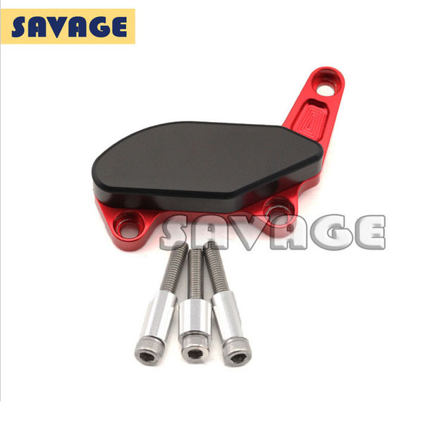For Ducati Monster 1100/S/EVO 1200/S Motorcycle Left Side Frame Slider Water Pump Protector Cover Red