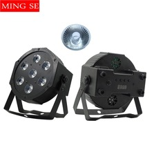 Fast shipping 7x12w led Par lights  RGBW 4in1 flat par dmx512 disco professional stage dj equipment