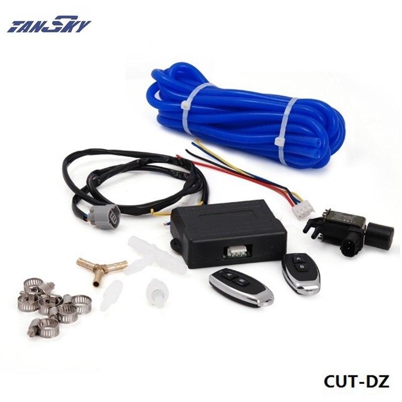 Беспроводной удаленного вакуум Выпускной вырез Клапан контроллер набор с 2 ПДУ для GM 6.6l lb7 DuraMax дизель TK-cut -DZ ...