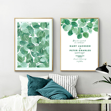 Wall Art Picture Nordic Green Fresh Plant Official Invitation Card Painting Print Poster Coffee Home Decor Background