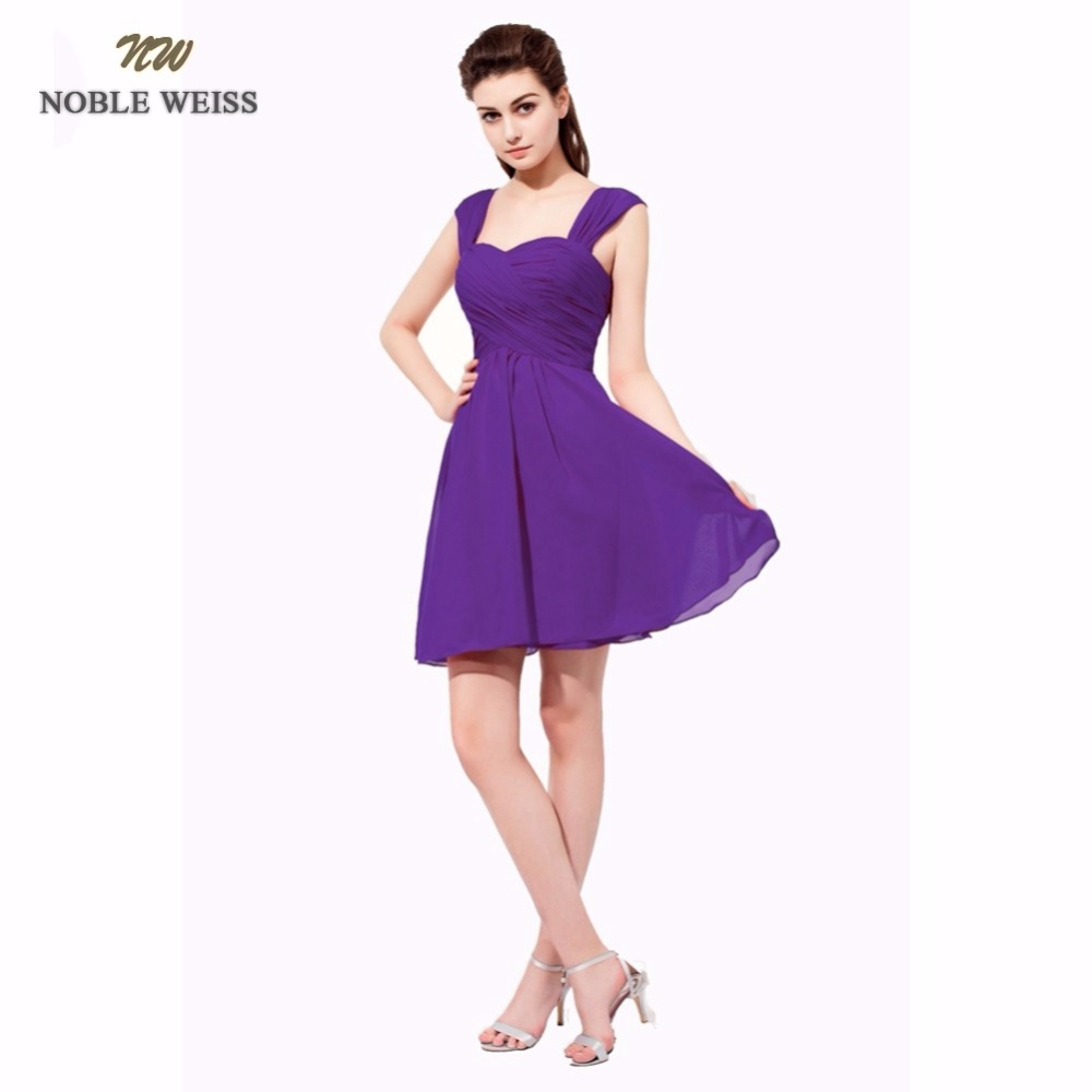 NOBLE WEISS Short Prom Party Dresses A Line Vestido de Festa Sweetheart Chiffon Lace up Back