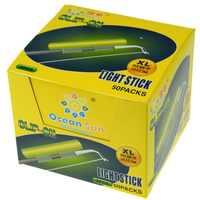 100 piezas de pesca resplandor palos Clip en caña de pescar caña M L XL verde fluorescente tubo luminoso palo de luz noche de pesca