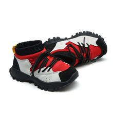 anak laki-laki dan perempuan ankle boots slip pada sepatu fashion fleksibel satu-satunya kulit asli chaussure zapatos anak-anak sepatu ankle shoes flyknit