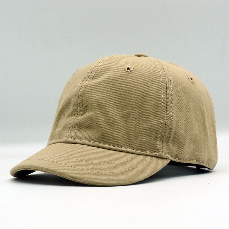 QPALCR 2018 New High Quality Japanese Style   Baseball     Cap   Short Brim Cotton Solid Color Ponytail Snapback Men Women for Hats