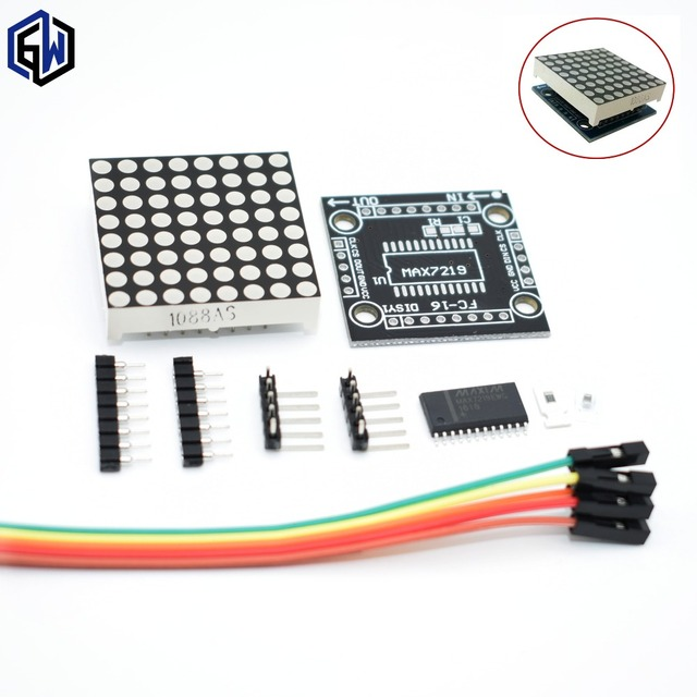 MAX7219 dot matrix module microcontroller module DIY KIT (hei)