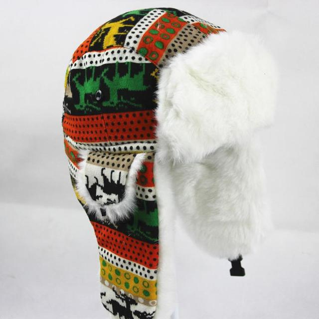 d826223a bomber Hat for women and men super Warm winter hats adult snow hat ear  flaps cap thicken Chapeu de inverno 3 style