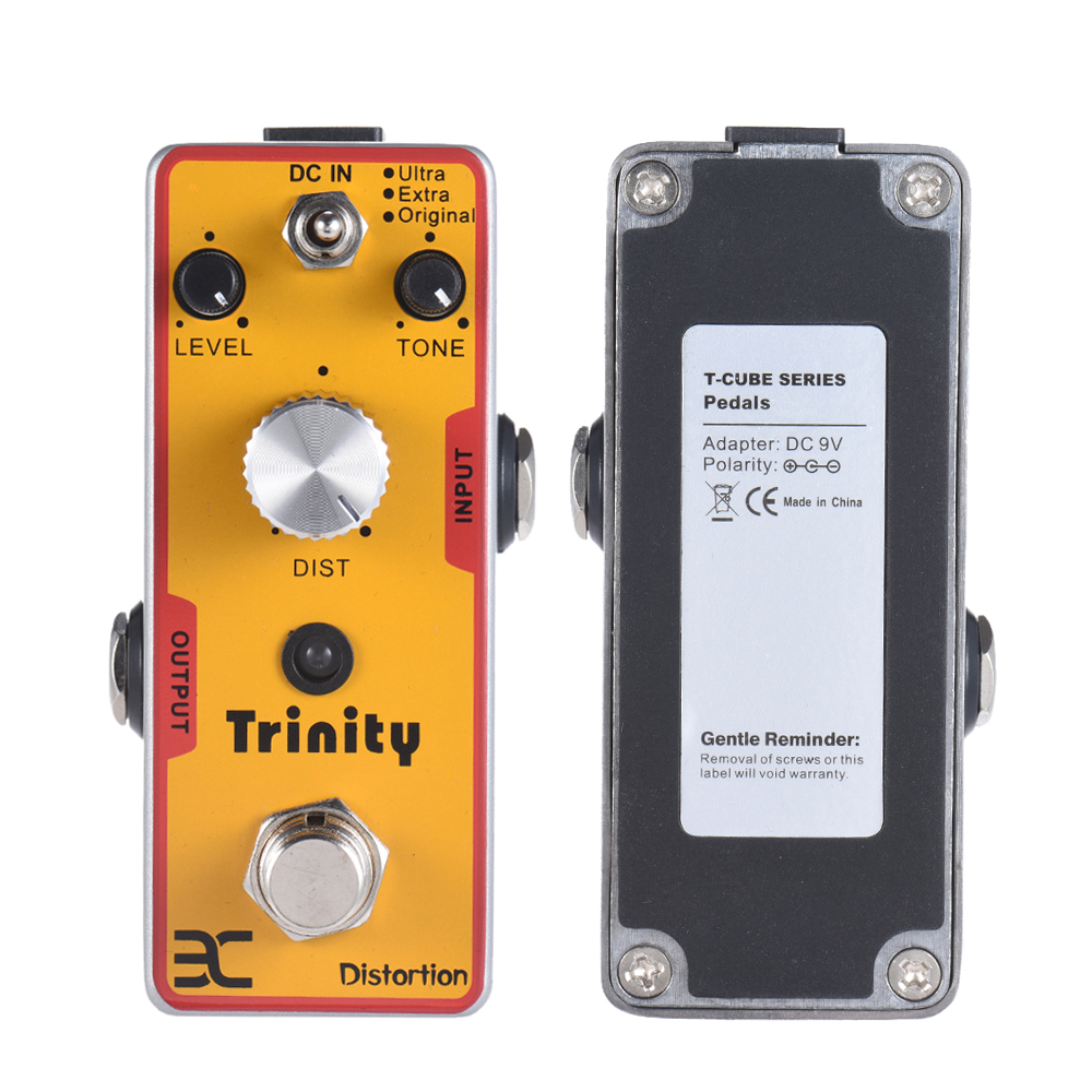 ENO High Quality TC-12 Trinity Distortion Guitar Effect Pedal True Bypass Pedal aroma adr 3 dumbler amp simulator guitar effect pedal mini single pedals with true bypass aluminium alloy guitar accessories