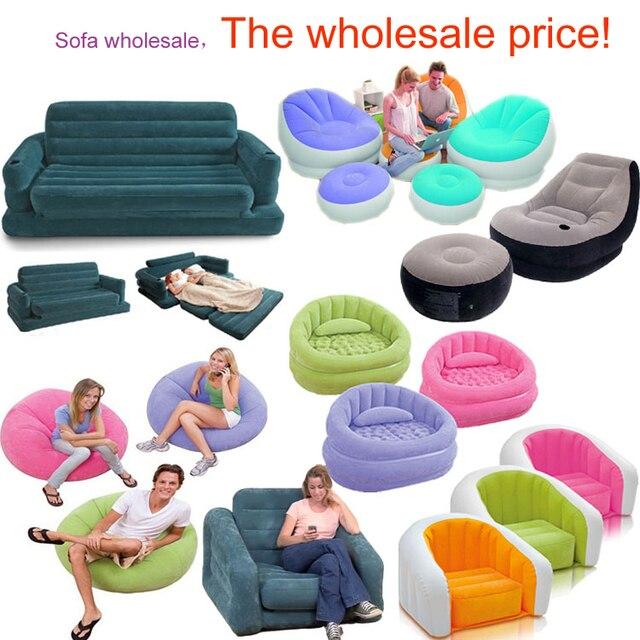 Leisure inflatable sofa single thick inflatable sofa foam chairs