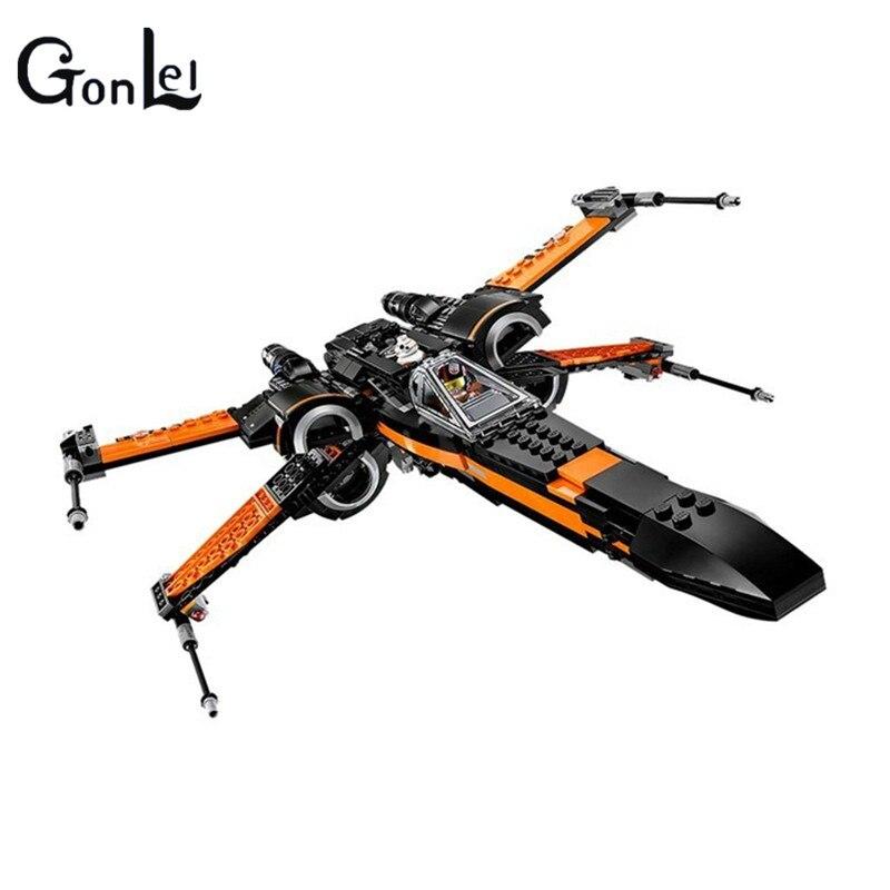 (GonLeI)  First Order Poe's X-wing Fighter Star Wars Building Blocks Toys For Children STARWARS Brick Toys X wing Xwing 05004 г с завгородняя немецкий язык учебник