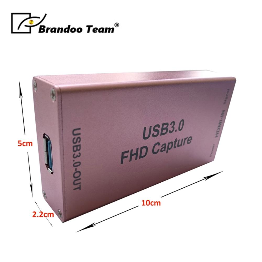 1080 P carte de Capture HDMI vers USB 3.0 pilote vidéo Audio Capture Dongle adaptateur vidéo Grabber dispositif conçu pour la diffusion en direct