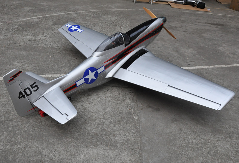96 Mustang 100cc Scale RC Plane Gasoline ARF Airplane Model Wood Fix Wing Plane US Stock Free Shipping