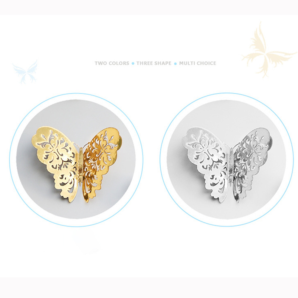 12PCS Hollow Cut 3D Butterfly Wall stickers Fansy Acrylic Flower Cutting Mirror Butterfly Sticker DIY Room decoration drop ship in Wall Stickers from Home Garden