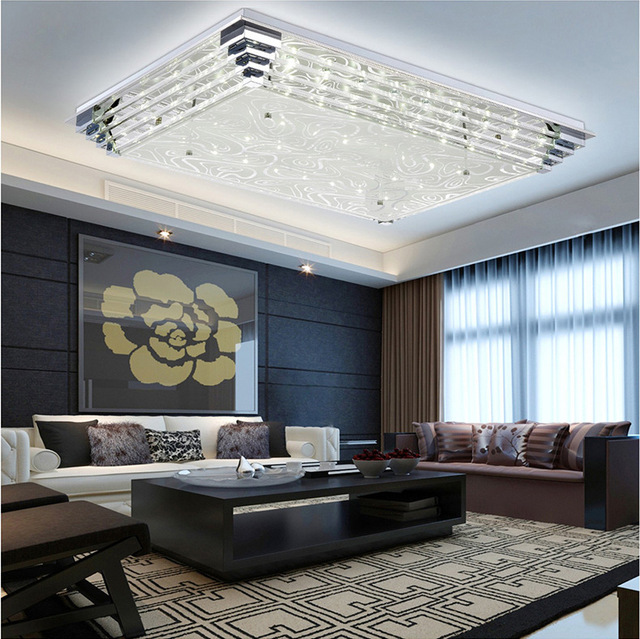 Modern crystal ceiling lighting rectangle surface mounted modern crystal ceiling lighting rectangle surface mounted contemporary lighting semi flush ceiling lamps island lights aloadofball