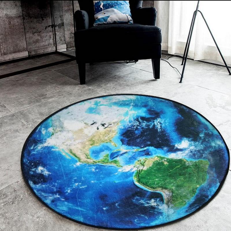 Yataq otağı üçün kompüter kreslosu üçün 3D Earth dəyirmi - Ev tekstil - Fotoqrafiya 2