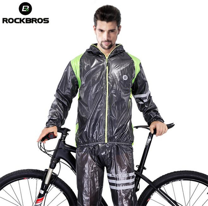 ROCKBROS Unisex Cycling Bicycle Jersey Raincoat Waterproof Breathable MTB Road Bike Raincoat Windbreaker Cycling Jacket