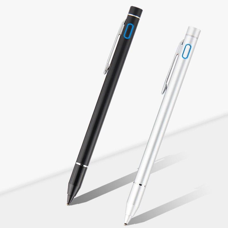 Pen Active Stylus Capacitive Touch Screen For HP Spectre ENVY Elite X2 1012 G2 Pavilion Pro X2 612 210 G3 G1 G4 Metal Pencil active pen capacitive touch screen for teclast tbook 10s t10 p80h 98 octa x10 x98 hp elite x2 g1 g2 tablet stylus pen nib1 4mm