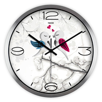 New Quartz Wall Clock Kids Bedroom Mute Custom Montre Murale Country Style Decorative Wall Clock Household Products 60A08